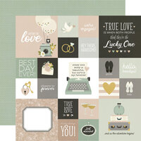 Simple Stories - Happily Ever After Collection - 12 x 12 Double Sided Paper - 4 x 4 Elements