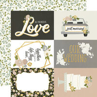 Simple Stories - Happily Ever After Collection - 12 x 12 Double Sided Paper - 4 x 6 Elements