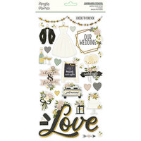 Simple Stories - Happily Ever After Collection - 6 x 12 Chipboard Stickers