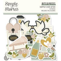 Simple Stories - Happily Ever After Collection - Ephemera - Bits and Pieces