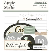 Simple Stories - Happily Ever After Collection - Ephemera - Journal Bits and Pieces