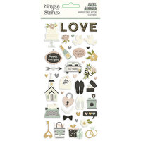 Simple Stories - Happily Ever After Collection - Puffy Stickers
