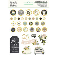 Simple Stories - Happily Ever After Collection - Decorative Brads