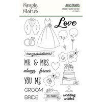 Simple Stories - Happily Ever After Collection - Clear Photopolymer Stamps