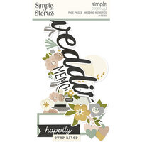 Simple Stories - Simple Pages Collection - Page Pieces - Wedding Memories