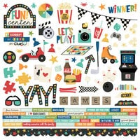 Simple Stories - Family Fun Collection - 12 x 12 Cardstock Stickers