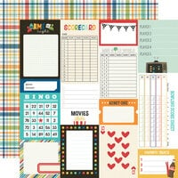 Simple Stories - Family Fun Collection - 12 x 12 Double Sided Paper - Journal Elements