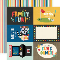 Simple Stories - Family Fun Collection - 12 x 12 Double Sided Paper - 4 x 6 Elements