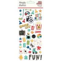 Simple Stories - Family Fun Collection - Puffy Stickers
