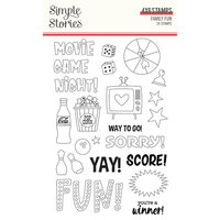 Simple Stories - Family Fun Collection - Clear Photopolymer Stamps