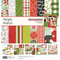 Simple Stories - Make It Merry Collection - Christmas - 12 x 12 Collection Kit