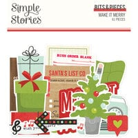 Simple Stories - Make It Merry Collection - Christmas - Bits and Pieces