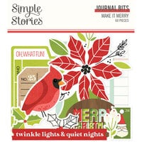 Simple Stories - Make It Merry Collection - Christmas - Journal Bits