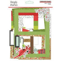 Simple Stories - Make It Merry Collection - Christmas - Chipboard Frames