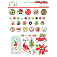 Simple Stories - Make It Merry Collection - Christmas - Decorative Brads