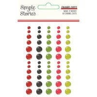 Simple Stories - Make It Merry Collection - Christmas - Enamel Dots