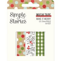 Simple Stories - Make It Merry Collection - Christmas - Washi Tape