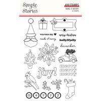 Simple Stories - Make It Merry Collection - Christmas - Clear Photopolymer Stamps