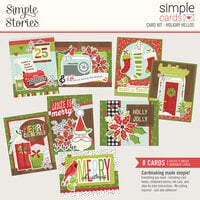 Simple Stories - Make It Merry Collection - Card Kit - Christmas - Holiday Hellos