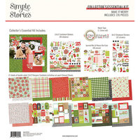Simple Stories - Make It Merry Collection - Christmas - 12 x 12 Collector's Essential Kit