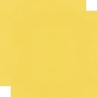 Simple Stories - Color Vibe Collection - 12 x 12 Textured Cardstock - Daffodil