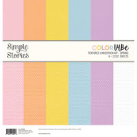 Simple Stories - Color Vibe Collection - 12 x 12 Textured Cardstock Kit - Spring