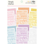 Simple Stories - Color Vibe Collection - Sticker Book - Alpha - Spring