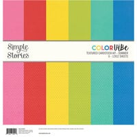 Simple Stories - Color Vibe Collection - 12 x 12 Textured Cardstock Kit - Summer