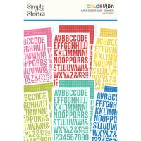 Simple Stories - Color Vibe Collection - Sticker Book - Alpha - Summer