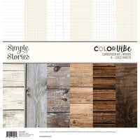 Simple Stories - Color Vibe Collection - 12 x 12 Paper Pack - Woods