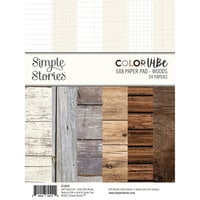 Simple Stories - Color Vibe Collection - 6 x 8 Paper Pad - Woods