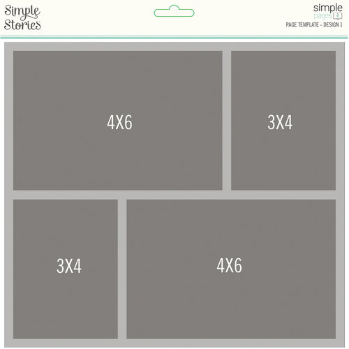 Simple Stories - Simple Pages Collection - Page Template - Design 1