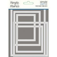 Simple Stories - Simple Pages Collection - Photo Mat Templates - 5 Pack