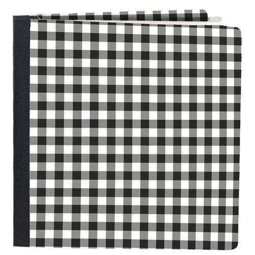 Simple Stories - SNAP Studio Flipbook Collection - 6 x 8 Flipbook - Black Buffalo Check