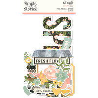 Simple Stories - Simple Pages Collection - Page Pieces - Spring