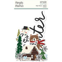 Simple Stories - Simple Pages Collection - Page Pieces - Winter