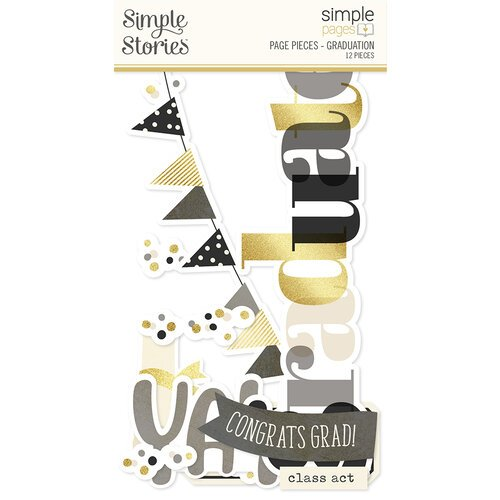 Simple Stories - Simple Pages Collection - Page Pieces - Graduation