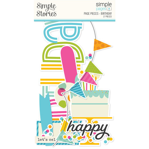 Simple Stories - Simple Pages Collection - Page Pieces - Birthday