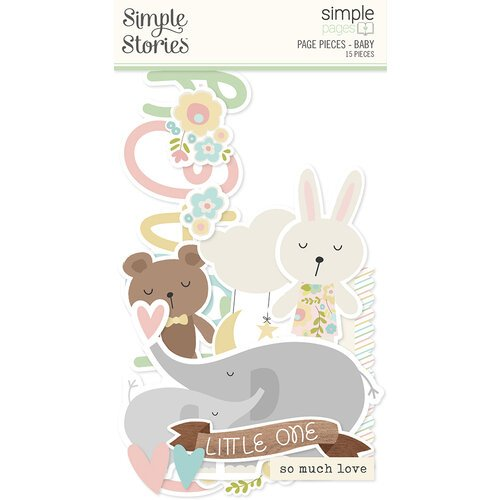 Simple Stories - Simple Pages Collection - Page Pieces - Baby