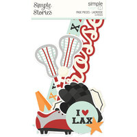 Simple Stories - Simple Pages Collection - Page Pieces - Lacrosse