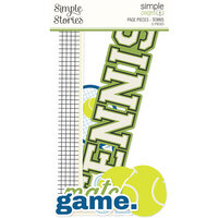 Simple Stories - Simple Pages Collection - Page Pieces - Tennis