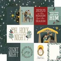 Simple Stories - Oh, Holy Night Collection - Christmas - 12 x 12 Double Sided Paper - Element Cards