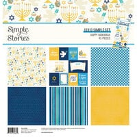 Simple Stories - Happy Hanukkah Collection - 12 x 12 Collection Kit