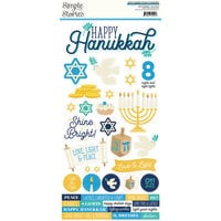 Simple Stories - Happy Hanukkah Collection - 6 x 12 Cardstock Stickers