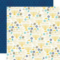 Simple Stories - Happy Hanukkah Collection - 12 x 12 Double Sided Paper - Shine Bright