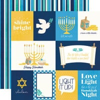 Simple Stories - Happy Hanukkah Collection - 12 x 12 Double Sided Paper - Element Cards