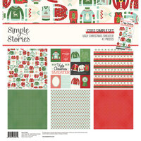 Simple Stories - Ugly Christmas Sweater Collection - 12 x 12 Collection Kit