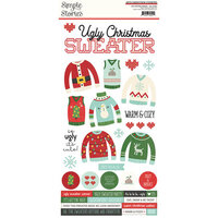 Simple Stories - Ugly Christmas Sweater Collection - 6 x 12 Cardstock Stickers