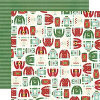Simple Stories - Ugly Christmas Sweater Collection - 12 x 12 Double Sided Paper - It's Getting Ugly