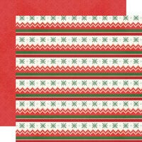 Simple Stories - Ugly Christmas Sweater Collection - 12 x 12 Double Sided Paper - Eat, Drink And Be Tacky